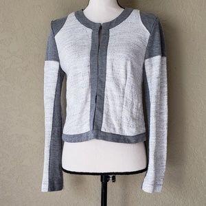 Cabi white & gray blazer
